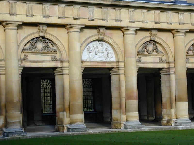 Cambridge, England: Trinity College: Wren Library, arches