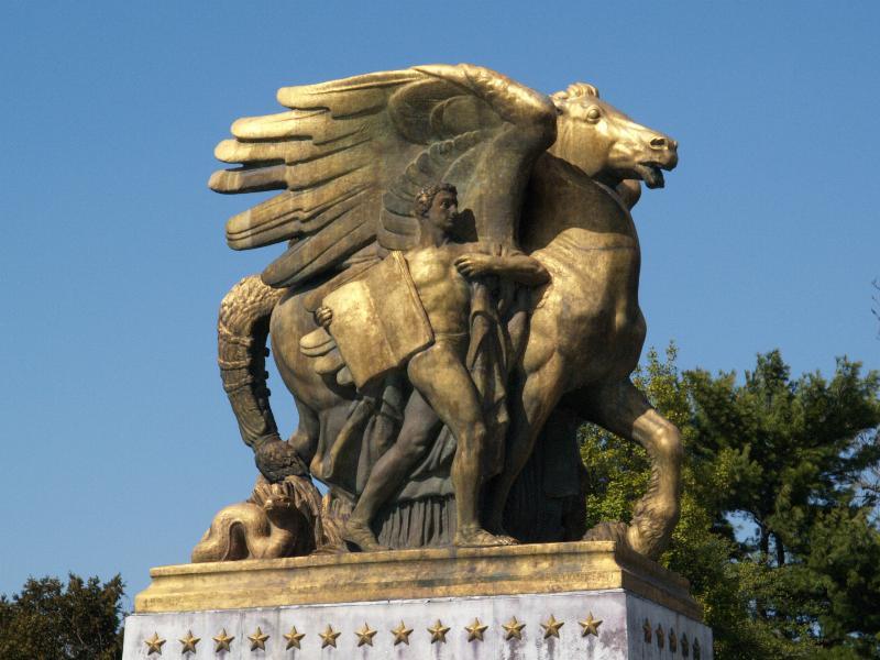 Washington dc arlington memorial bridge sculpture