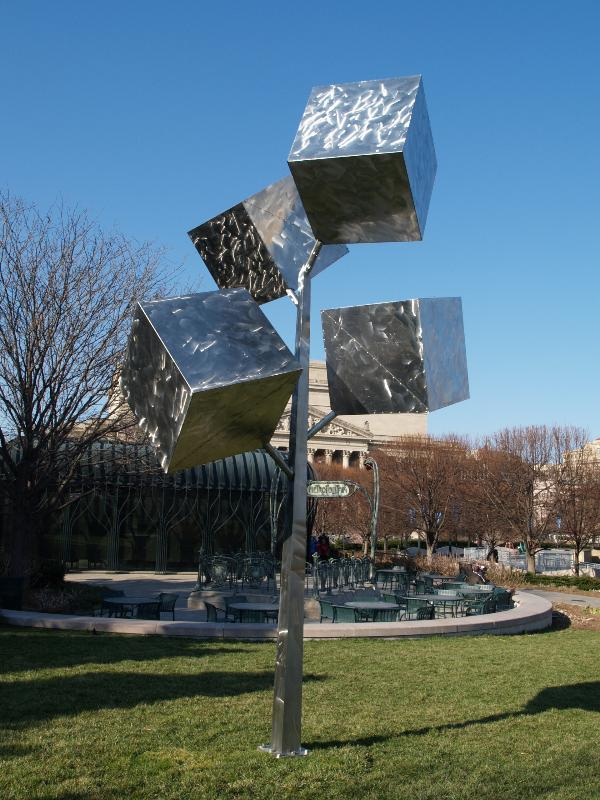 Washington Dc National Gallery Of Art Sculpture Garden Cluster Of Four Cubes