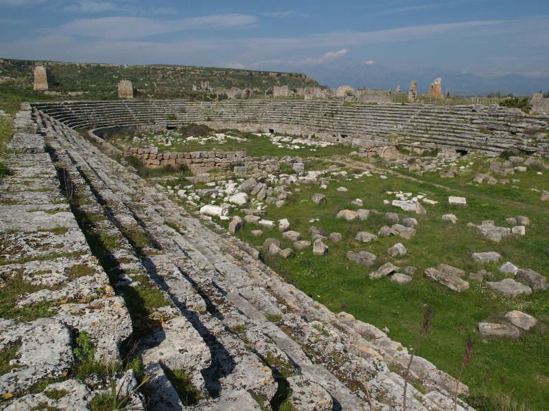 Perge, Turkey: Stadium: view