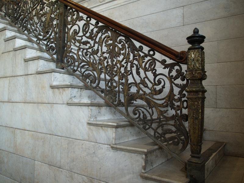 Buffalo new york ellicott square building staircase in entrance