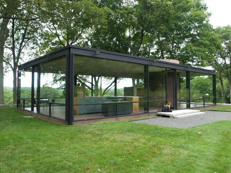 new canaan connecticut glass house estate glass house view. Black Bedroom Furniture Sets. Home Design Ideas