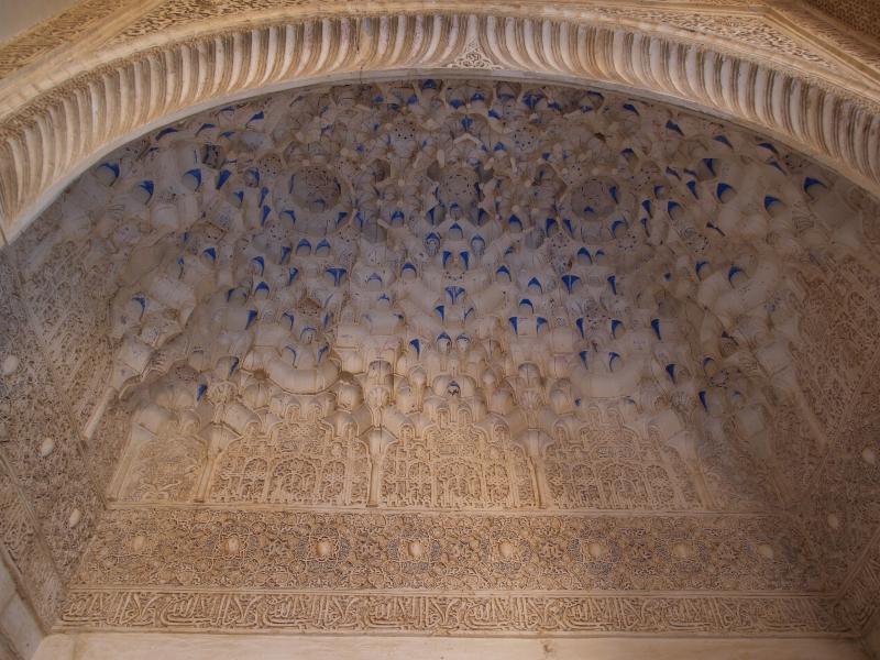 Granada, Spain: Alhambra: Sala de la Barca, Mocárabe vault