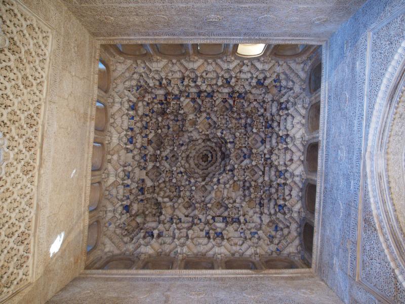Granada, Spain: Alhambra: Sala de los Reyes, Mocárabe ceiling