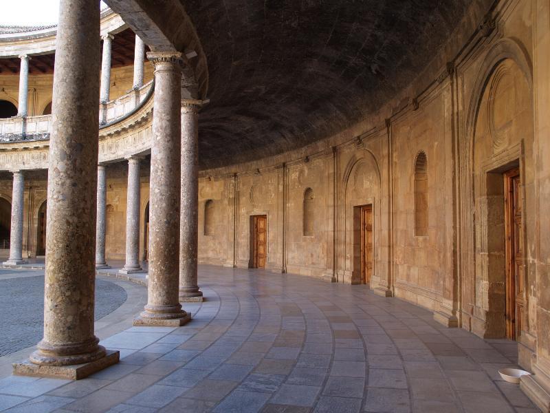 Granada, Spain: Alhambra: Palacio de Carlos V, interior