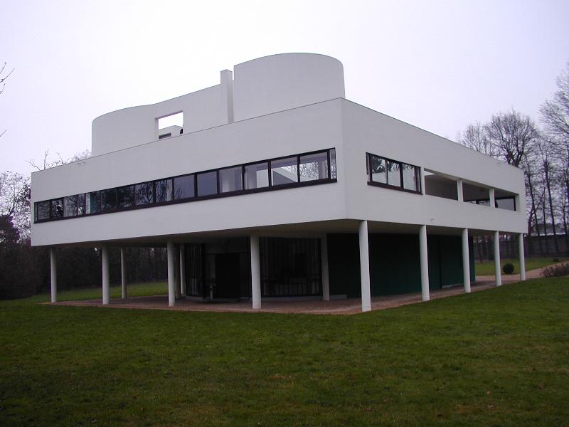 Poissy france villa savoye view for Poissy le corbusier