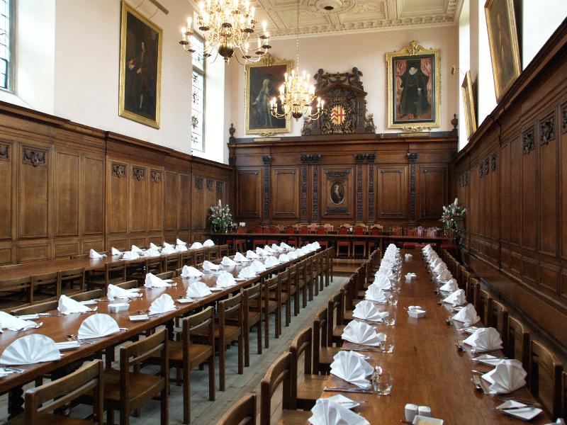 Cambridge england clare college dining hall interior for Dining hall interior