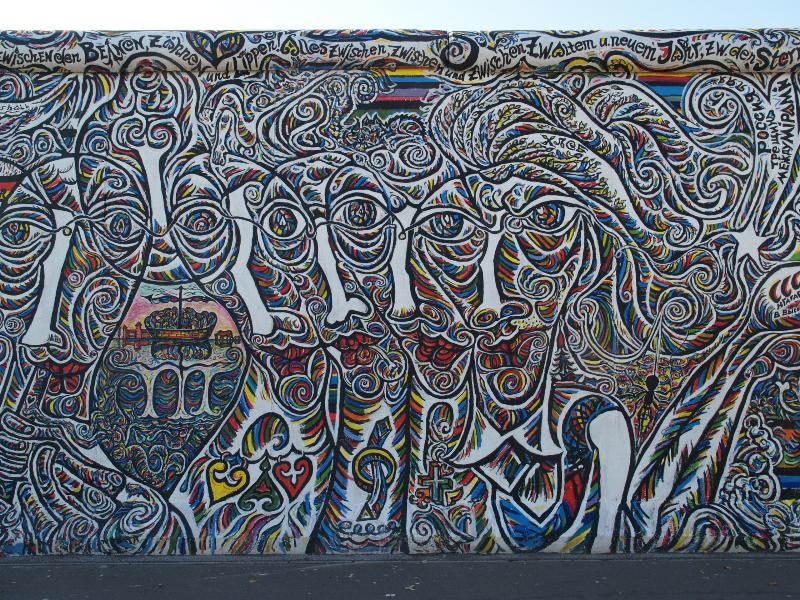 Berlim, Alemanha: East Side Gallery (Muro de Berlim): Faces (Gamil Gimajew)